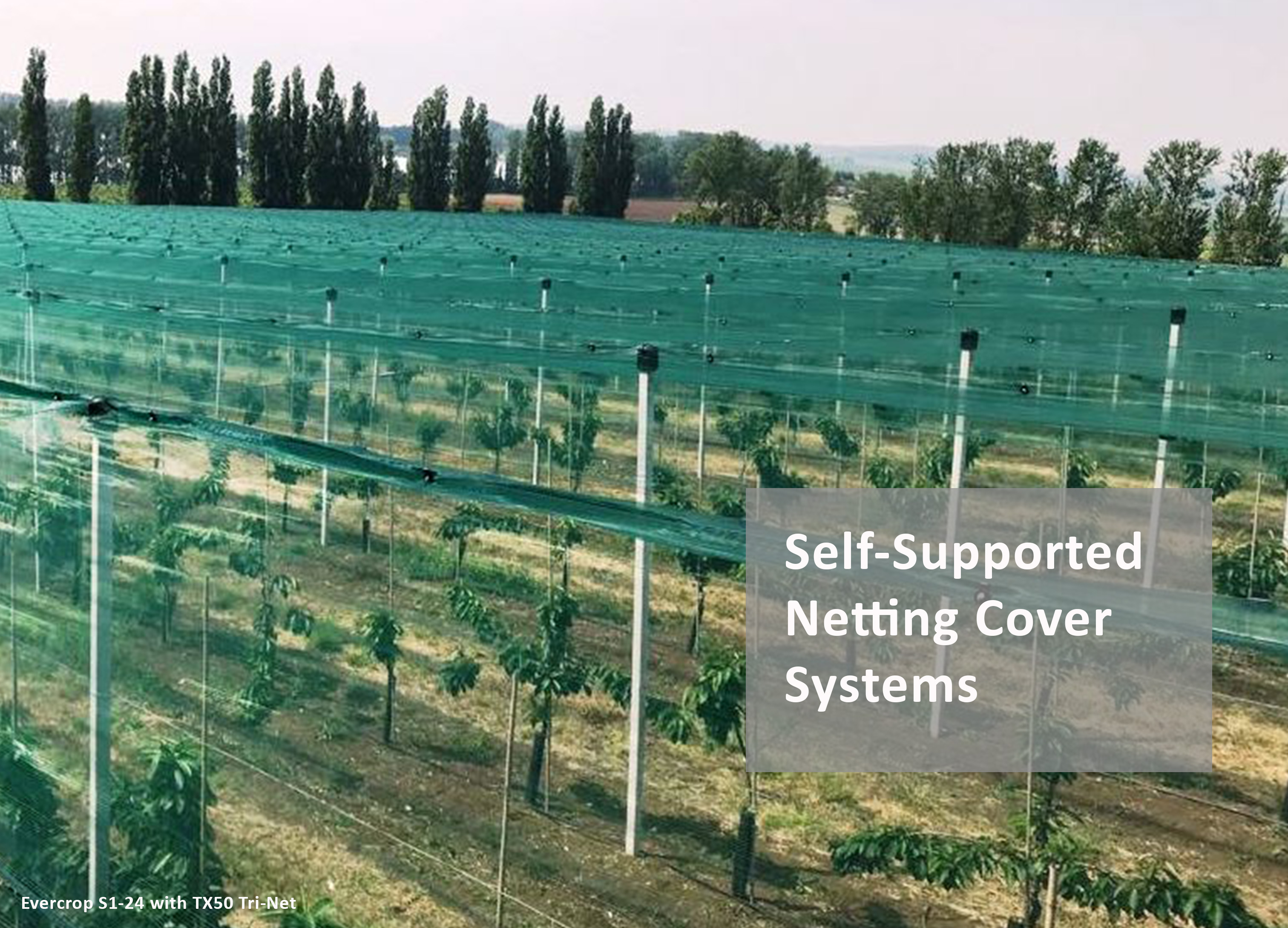 Vindex Evercrop Self Supported Netting Cover Systems